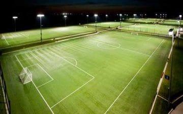 Fotbollsplan med LED belysning