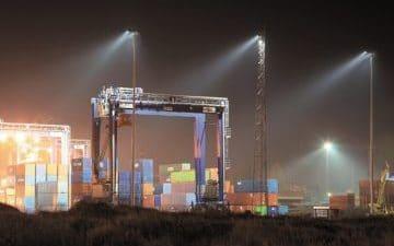 LED belysning i hamn