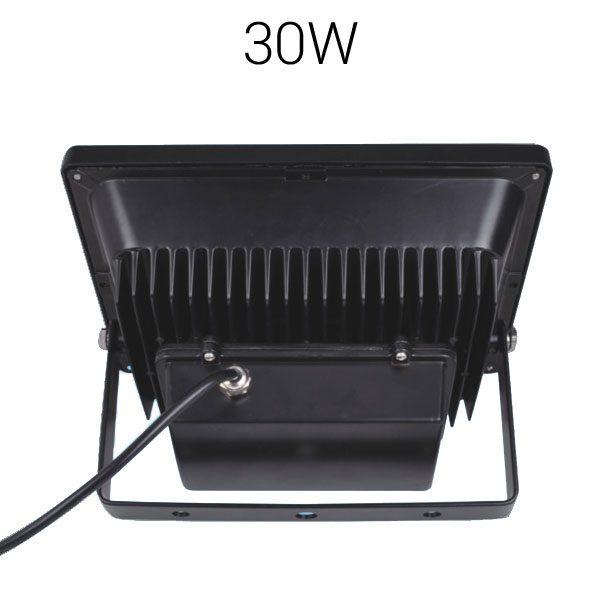 LED strålkastare 30W svart baksida