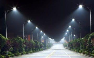 Vägbelysning med LED vägarmaturer