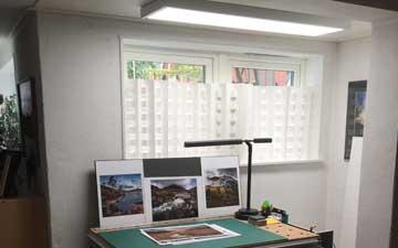 LED panel i bildbehandlingsrum