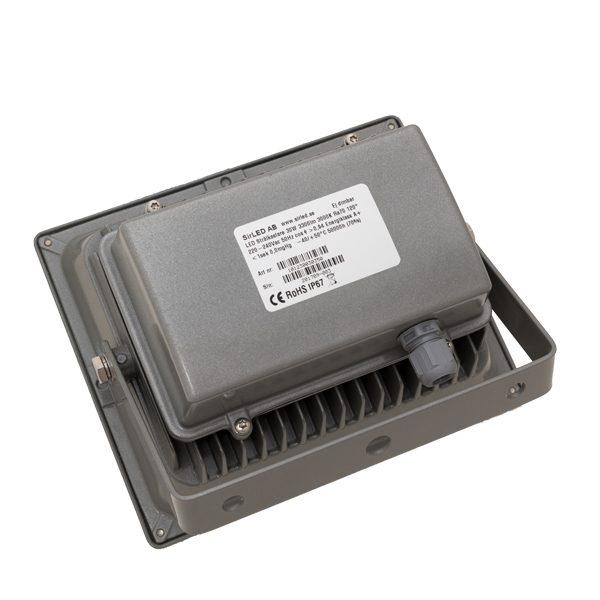 LED strålkastare 30W grå baksida
