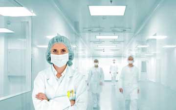 LED paneler på sjukhus