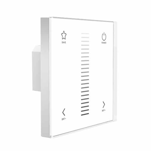 Touch panel med dimming utav LED belysning