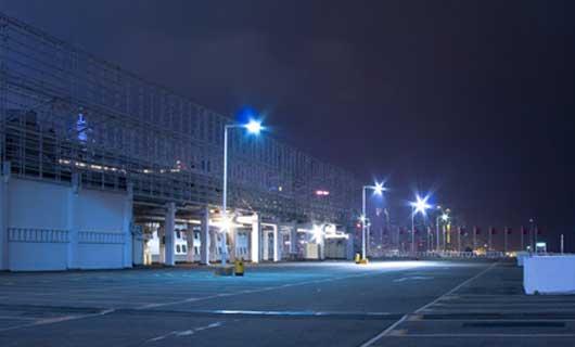 LED väg på parkeringsområde