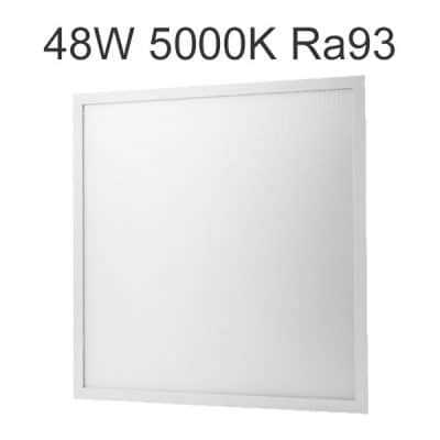LED panel 5000K 60x60 48W Ra93 för rum med krav på korrekt färgåtergivning