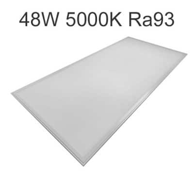 LED panel 60x120cm 48W 5000K Ra93 - För rum med krav på korrekt färgåtergivning