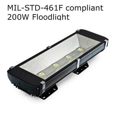 LED strålkastare MIL-STD-461F 200W
