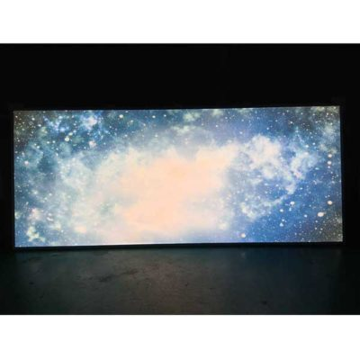 LED panel med kundanpassad bild - galax