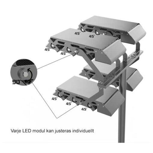 LED strålkastare Flexmast justering