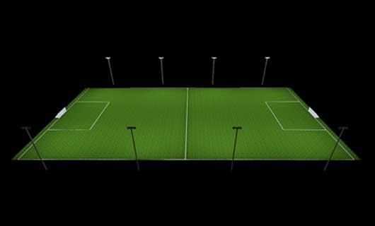 fotbollsplan ljusberäkning