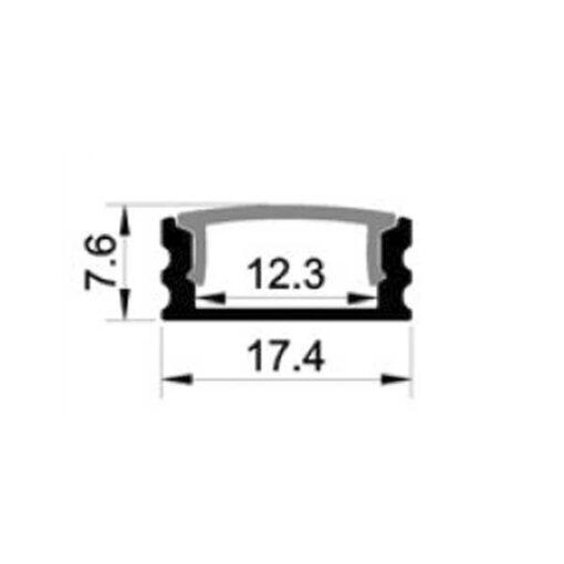 LS1707 Aluminium profil