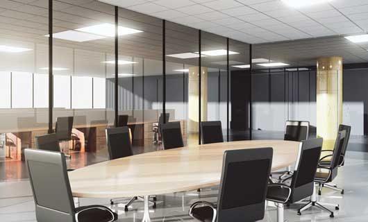 Konferensrum med LED paneler
